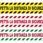 ADESIVI DISTANZA DI SICUREZZA 100x20 cm