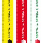 ADESIVI DISTANZA DI SICUREZZA 20x105 cm